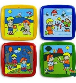 Set de 4 puzzle Activitati de sezon - Miniland
