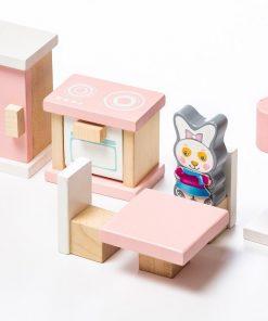 Jucarie Din Lemn Cubika, Set Constructii, My Kitchen
