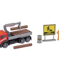 Camion cu accesorii de constructie Teamsterz, Rosu