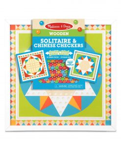 Joc de societate 2 in 1 Solitaire si Sah chinezesc - Melissa & Doug