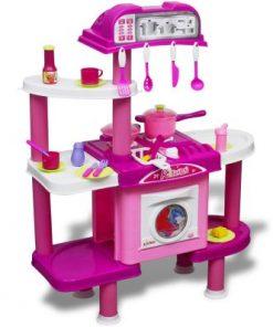 Bucătărie mare de jucărie pentru copii, cu efecte luminoase și sonore