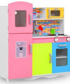 vidaXL Bucătărie de jucărie pentru copii, multicolor, 80x30x85 cm, MDF