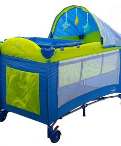 Patut pliabil eurobaby dream - albastru
