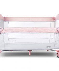 Patut pliabil sun baby 005 cu laterala culisanta pink