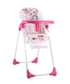 Scaun de masa, dulce, pink cat