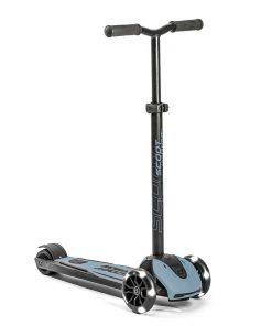 Trotineta pliabila pentru copii si adulti, roti luminoase scoot & ride highwaykick 5 steel, 5 ani +