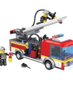 Jucarie de constructie Micul Constructor - Masina de pompieri