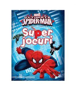 Carte cu activitati Super Jocuri, Ultimate Spiderman, Marvel