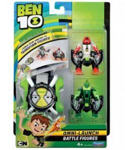 Set ceas Ben 10 omnitrix lansator cu 2 figurine Patru Brate si Lujerul