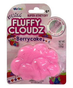 Slime parfumat cu surpriza Compound Kings - Fluffy Cloudz, Berrycake, 120 g