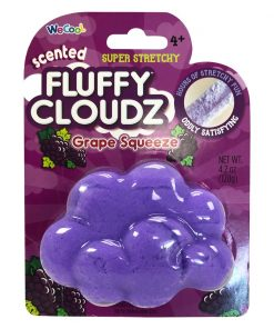 Slime parfumat cu surpriza Compound Kings - Fluffy Cloudz, Grape Squeeze, 120 g