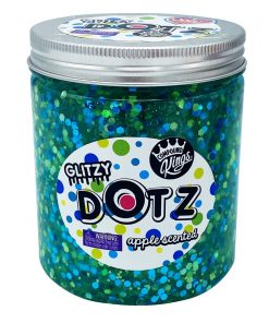 Gelatina Compound Kings - Glitzy Dotz Slime, Apple, 425 g