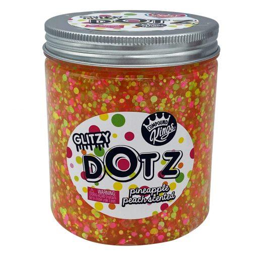 Gelatina Compound Kings - Glitzy Dotz Slime, Pineapple Peach, 425 g