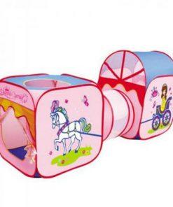 Cort de joaca pentru copii 3 in 1 AliBibi, forma de caleasca de printese ###
