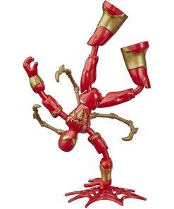Figurina flexibila Spiderman Bend and Flex, Iron Spider E8972