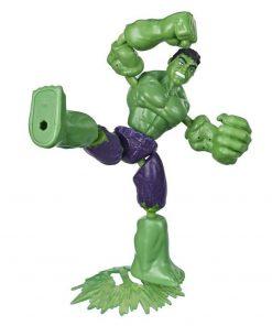 Figurina flexibila Avengers Bend and Flex, Hulk (E7871)