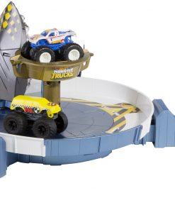 Set de joaca cu masina, Hot Wheels Monster Truck, Rechinul Furios