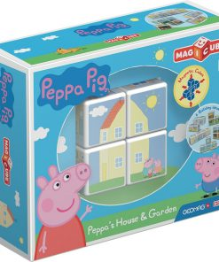Joc de constructie magnetic Magic Cube, Peppa Pig House