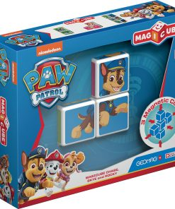Joc de constructie magnetic Magic Cube, Paw Patrol, Chase, Skye and Rocky