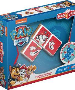 Joc de constructie magnetic Magic Cube, Paw Patrol, Marshall, Rubble si Zuma