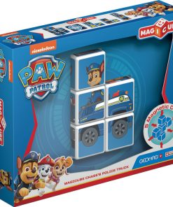 Joc de constructie magnetic Magic Cube, Paw Patrol, Chases's Police Truck