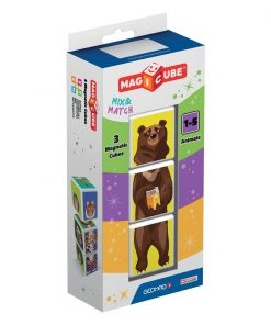 Joc de constructie magnetic Magic Cube, People Animals