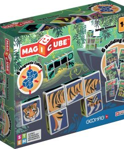 Joc de constructie magnetic Magic Cube, Jungle Animals