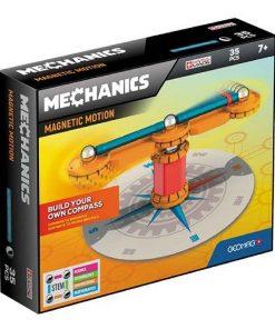 Joc de constructie magnetic Geomag Mechanics Motion, 35 piese