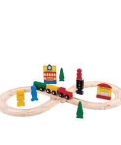 Jucarie bebelusi Noriel Bebe Wood - Trenuletul calator