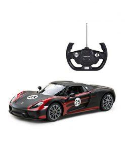 Masina cu telecomanda Rastar Porsche 918 Spyder Performance 1:14, Negru