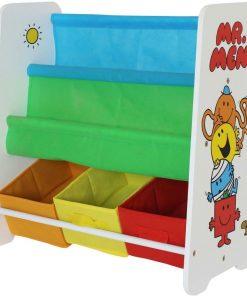 Organizator carti si jucarii cu cadru din lemn Mr. Men