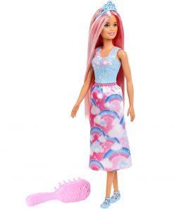 Papusa Barbie by Mattel Dreamtopia cu perie