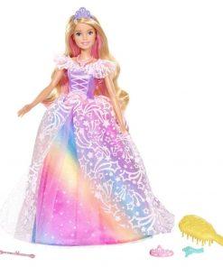 Papusa Barbie by Mattel Dreamtopia Printesa in rochie de bal cu accesorii