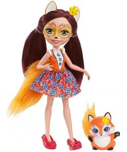 Papusa Enchantimals by Mattel Felicity Fox cu figurina