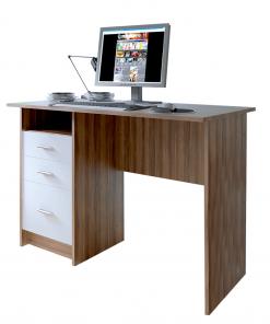 PC masă, stejar prun/alb, SAMSON NEW