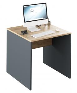 Masă de birou, grafit/stejar artisan, RIOMA NEW Typ 17