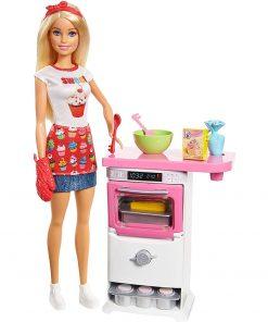 Set Barbie by Mattel I can be Papusa cu bucatarie FHP57