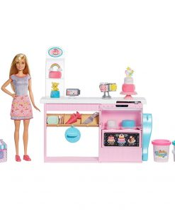 Set Barbie by Mattel I can be Papusa cu cofetarie GFP59