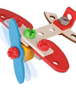 Set constructie din lemn Eichhorn Airplane 18 piese