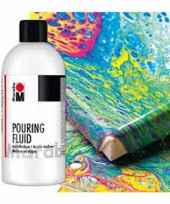 Fluid culori acrilice pentru tehnica pouring Marabu, 250 ml