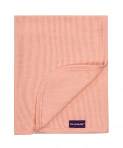 Paturica din bumbac Waffle Weave 70 x 90 cm- Coral Clevamama 3460