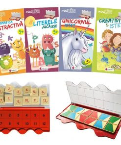 Set joc educativ LUK, varsta 5 ani, Matematica, limba romana, logica si creativitate Editura Kreativ EK6151