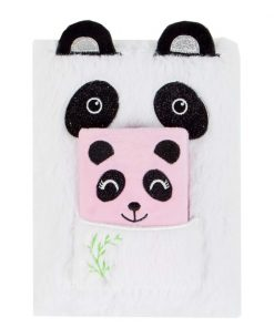 Jurnal cu coperta de plus Starpak, Panda