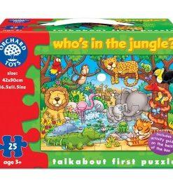 Puzzle cu activitati Cine este in jungla? WHO'S IN THE JUNGLE?