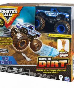 Monster Jam, set camioneta Thunder Blue cu nisip kinetic