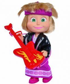 Papusa Masha cu chitara rock