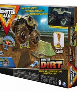 Monster Jam, set camioneta Soldier Fortune cu nisip kinetic