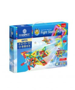 Magspace 66 Piese - Fight Starry Sky Set - Joc Magnetic Educativ de Constructie 3D