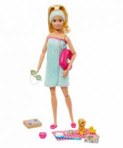Set de joaca Barbie cu accesorii wellness