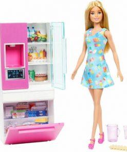Set de joaca, Barbie - Mobilier bucatarie cu papusa blonda